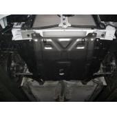 Защита картера двигателя и кпп Daewoo Nexia (Дэу Нексия) (V-все, 1995-)  штамп. (Сталь 1,8 мм)