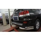 Защита заднего бампера Lexus LX570 (2014-2015) (уголки) d76/42