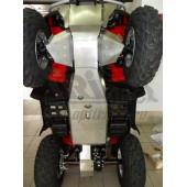 Защита днища и рычагов ATV Honda (Хонда) Foreman (Rubicon) TRX500 V-500 (2007-2015) (Алюминий 4 мм)