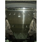 Защита КПП и РК Mitsubishi L-200 V-2,5TD;АКПП(06-)/Pajero Sport,V-2,5TD;АКПП(08-),из 2-х частей (Алюминий 4 мм)