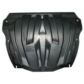 Защита картера двигателя и кпп Volvo (Вольво) XC 60(08-)/XC 70/S60/S80 (2WD) (10-)/Ford S-Max/Mondeo кроме V-2,0(245л)(06-14) (Композит 6 мм)