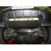 Защита картера двигателя и кпп KIA Mohave V-3,0 TDI АККП (2008-)+радиатор из 2-х частей (Алюминий 4 мм)