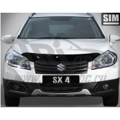 Дефлектор капота Suzuki SX4 (2013-) (темн.)