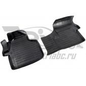 Коврики салона резиновые с бортиком для Volkswagen Crafter (2006-2011) (2 передних)