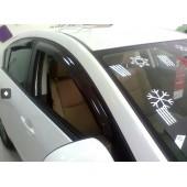 Дефлекторы боковых окон Mazda (Мазда) 3 SD (2009-2013) (4 части) (темн.)