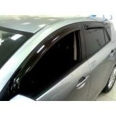 Дефлекторы боковых окон Mazda (Мазда) 3 Хэтчбек (2009-2013) (4 части) (темн.)
