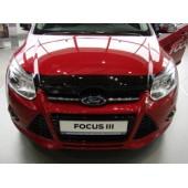 Дефлектор капота Ford Focus (2011-2015) (темный)