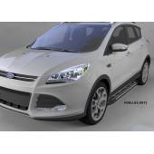 Пороги алюминиевые (Corund Silver) Ford Kuga (2013-)