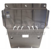 Защита картера двигателя и кпп MB А-класс, B-класс V-1,6T,КПП 7G-DCT(2013-) (Алюминий 4 мм)