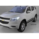 Пороги алюминиевые (Ring) Chevrolet TrailBlazer (2013-)