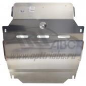 Защита картера двигателя и кпп Ssang Yong Actyon (Ссанг Йонг Актион) V-все (2010 -13 -)+радиатор (Алюминий 4 мм)