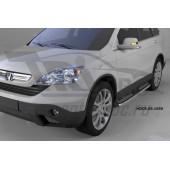 Пороги алюминиевые (Zirkon) Honda (Хонда) CR-V (2007-2012)