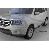 Пороги алюминиевые (Zirkon) Honda (Хонда) Pilot (2008-2010/2010-)