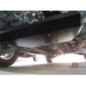 Защита картера двигателя и кпп Mitsubishi Outlander (Митсубиши Аутлендер) XL V-все, кроме 3,0 (06-12)/Lancer V-все (07-)/ASX V-все ( (Алюминий 4 мм)