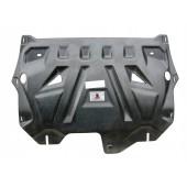 Защита картера двигателя и кпп VW PoloSD V-все(10-)/Skoda Fabia (Шкода Фабия)(10-), Rapid V-все(14-16-) (Композит 6 мм)