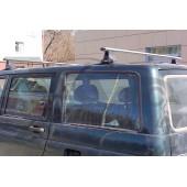 Багажник в сборе (УАЗ Патриот) (аэродинамический профиль дуги) (алюмин.)