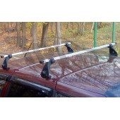 Багажник в сборе (Chevrolet Niva) (дуга 20х30) (алюмин.)
