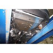 Защита днища Ford Edge V-3,5; AКПП;4X4(2014-)3 ч. (Алюминий 4 мм)