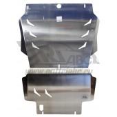 Защита картера двигателя и кпп Infiniti (Инфинити) QX80 (2014-) (QX56 (2010-2014-))/Nissan Patrol V-5.6(2010-) (Алюминий 4 мм)