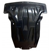 Защита картера двигателя и кпп MB GL500, кузов X166, V8 (2012-) , из 2-х частей, (Карбон 10 мм)