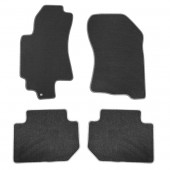Коврики салона текстильные BMW X5 F15 (2013) (Велюр,полиамид) (подпятник п/у)(черн.)