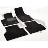 Коврики салона текстильные Audi (Ауди) Q3 (2011) (Велюр,полиамид) (подпятник п/у)(черные)