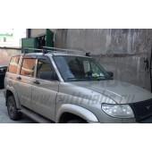 Багажник в сборе (УАЗ Патриот) (дуга 20х30) (алюмин.)