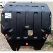 Защита картера двигателя и кпп Kia Picanto (V-все, 2011-2015-)  штамп. (Сталь 1,8 мм)