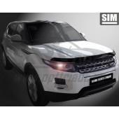 Дефлектор капота Land Rover Range Rover Evogue (2011-) (темн.)