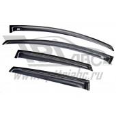 Дефлекторы боковых окон Opel Astra (Опель Астра) J Хэтчбек/SD (2010-) (4 части) (темные)