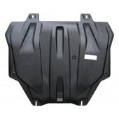Защита картера двигателя и кпп Mitsubishi Outlander(Митсубиши Аутлендер)XL V-все кр.3,0(06-12)/Lancer(07-)/ASX V-все(10-)/Peugeot4008(Композит 6 мм)