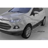 Пороги алюминиевые (Zirkon) Ford EcoSport (2014-)